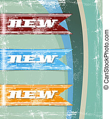 retro set of new tags