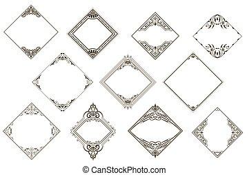 Retro set of vintage frames