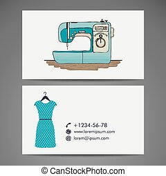 Retro sewing machine, sketch for your design