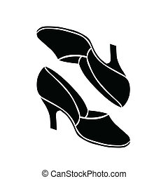 Retro shoes vector illustration