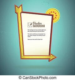 Retro sign design, advertising for motel