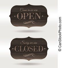 Retro signs - Open and Closed