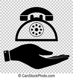 retro, sinal telefone
