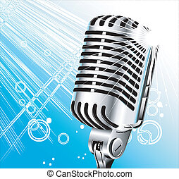 Retro singer microphone - vintage retro singer microphone...