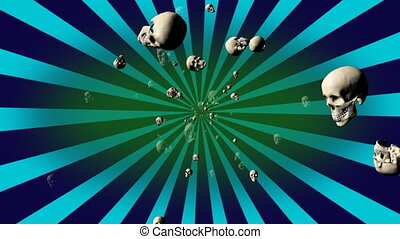 Retro Skulls Looping Background