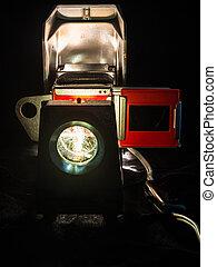 Retro slide projector