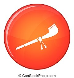 Retro smoking pipe icon, flat style