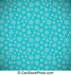 Retro Snowflakes Background