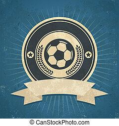 Retro Soccer Ball Emblem