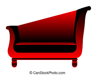 retro sofa vector illustration
