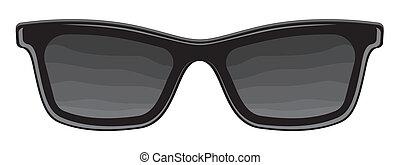 retro, solglasögon