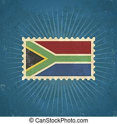 Retro South Africa Flag Stamp