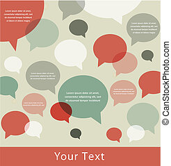 retro speech bubble background with a place for your text