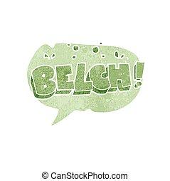 retro speech bubble cartoon belch text