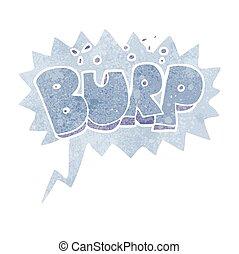 retro speech bubble cartoon burp text
