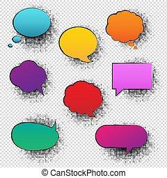 Retro Speech Bubble Transparent Background
