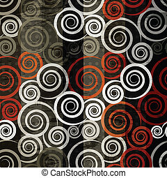 retro spiral seamless
