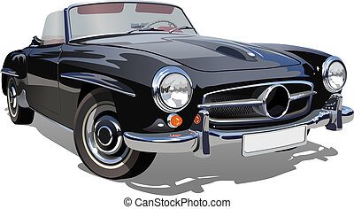 retro sport car. Available EPS-10 vector format separated by groups and layers for easy edit