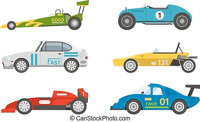 Retro sport car vector. - Race retro sport car. Supercar...