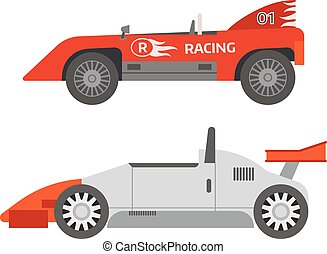 Retro sport car vector.
