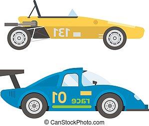 Retro sport car vector.