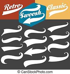 Retro sports swoosh tails set - Swoosh tails. Retro sports...