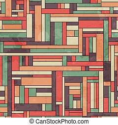 retro square seamless pattern with grunge effect