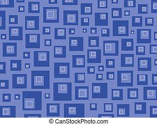 Retro squares blue