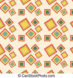 Retro squares seamless pattern