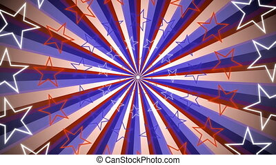 Retro Stars and Stripes Loop - Looping Animated Background