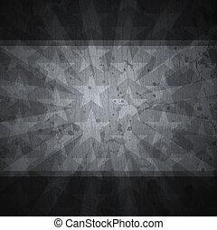 retro stars black background with grunge effect