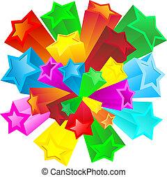 Retro stars - Background of retro stars