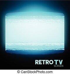 Retro Static TV Screen