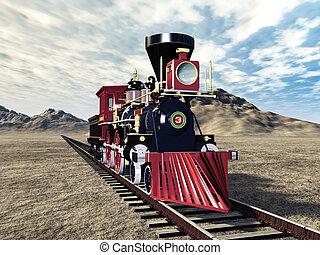 Retro Steam Locomotive