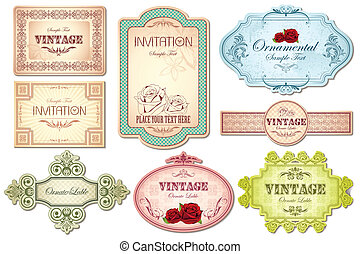 Retro Sticker - illustration of retro style sticker in...