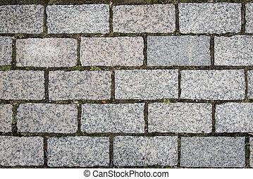 Retro stone floor