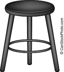 Retro stool in black design