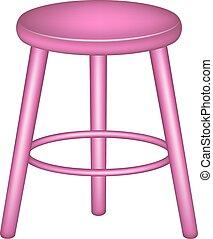 Retro stool in pink design