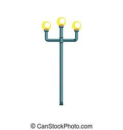 Retro street lampost vector Illustration