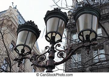 Retro street light in Paris, France