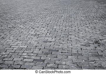 Abstract pattern of vintage tiles on Old Havana street