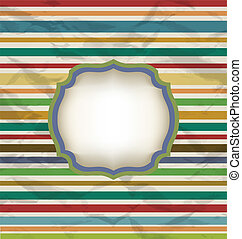 Retro stripe pattern, colorful vintage background