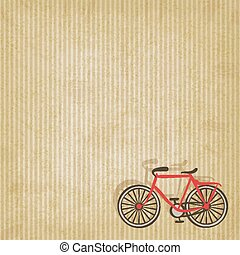 retro striped background with bicycle