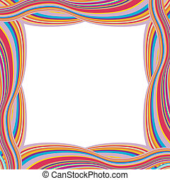 Retro Striped Frame with Colored Stripes