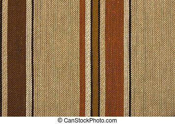 Retro striped woven woolen textile background or texture