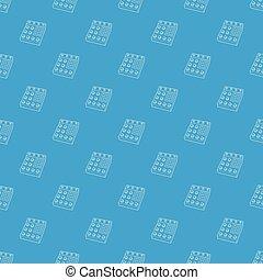 Retro studio equalizer pattern vector seamless blue repeat...