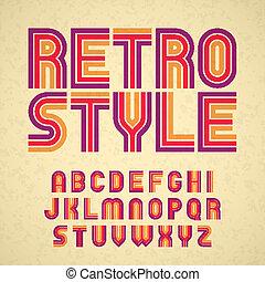 Retro style alphabet