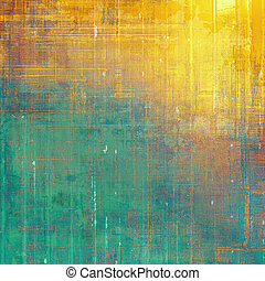 Retro style background with grungy vintage texture and different color patterns: yellow (beige); brown; green; blue; red (orange); cyan