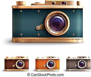 Retro Style Camera Set