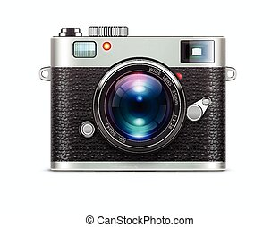 Retro style camera - Vector illustration of detailed icon ...